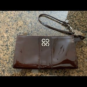 Coach Chocolate Patent Leather Zippy Wallet